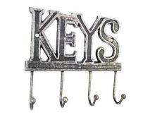 Rustic Silver Cast Iron Keys Hooks 8