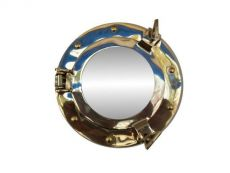 Brass Decorative Ship Porthole Mirror 8\