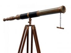 Admiral Floor Standing Antique Brass Telescope 60