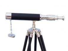 Floor Standing Chrome - Leather Harbor Master Telescope 30