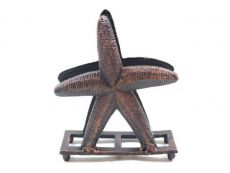 Rustic Copper Cast Iron Starfish Napkin Holder 6
