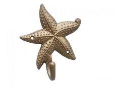 Antique Brass Starfish Hook 5