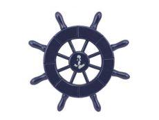 Dark Blue Decorative Ship Wheel With Anchor 6