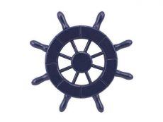 Dark Blue Decorative Ship Wheel 6