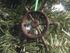 Cast Iron Ship Wheel Decorative Christmas Ornament 4