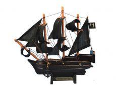 Wooden Black Barts Royal Fortune Model Pirate Ship 7