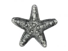 Antique Silver Cast Iron Starfish Paperweight 3