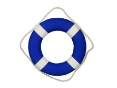 Vibrant Blue Decorative Lifering with White Bands 15