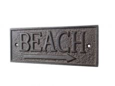 Cast Iron Beach Sign 9