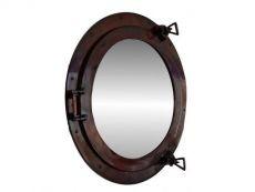 Antique Copper Decorative Ship Porthole Mirror 20