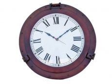 Antique Copper Deluxe Class Porthole Clock 20\