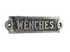Rustic Silver Cast Iron Wenches Sign 6