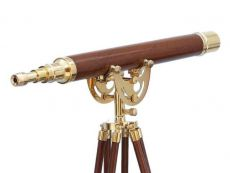 Floor Standing Brass-Wood Anchormaster Telescope 50