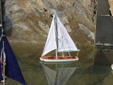 Wooden It Floats 12 - Light Blue Floating Sailboat Model