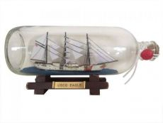 United States Coast Guard USCG Eagle Model Ship In A Glass Bottle 9