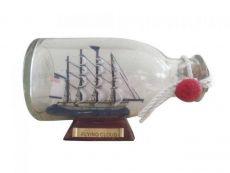 Flying Cloud Model Ship in a Glass Bottle 5