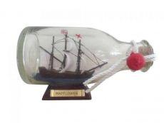 Mayflower Model Ship in a Glass Bottle 5