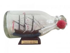 Santa Maria Model Ship in a Glass Bottle 5
