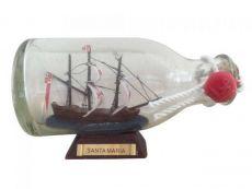 Santa Maria Model Ship in a Glass Bottle 5