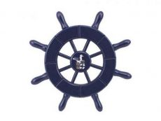 Dark Blue Decorative Ship Wheel With Seagull 6