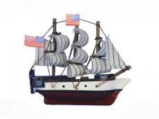 Wooden USS Constitution Tall Model Ship Magnet 4\