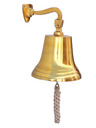 Brass Plated Hanging Ships Bell 15 - 4