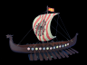 Wooden Viking Drakkar with Embroidered Raven Limited Model Boat 24 - 2
