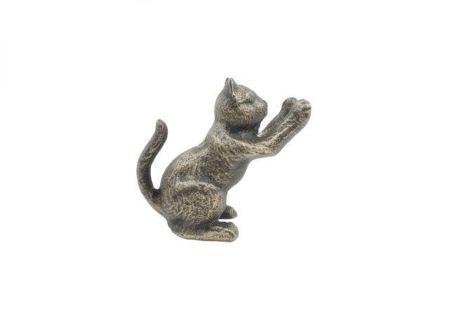 Rustic Gold Cast Iron Cat Door Stopper 5