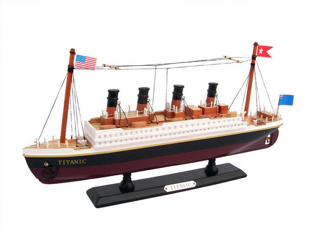 Wooden RMS Titanic Model Cruise Ship 14