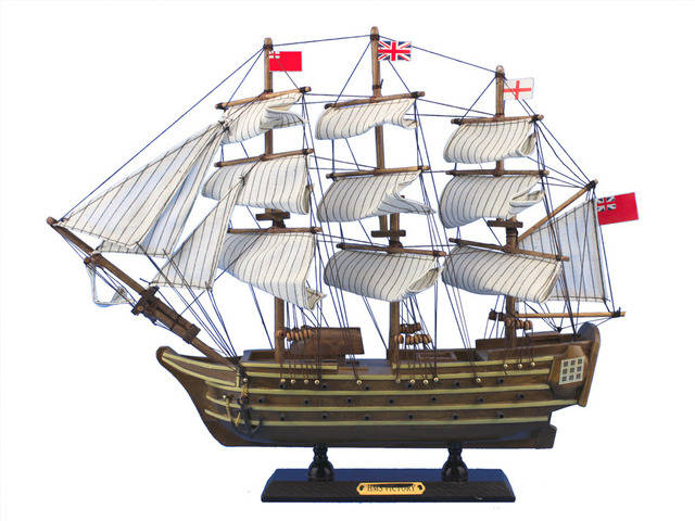 Wooden HMS Victory Tall Model Ship 14