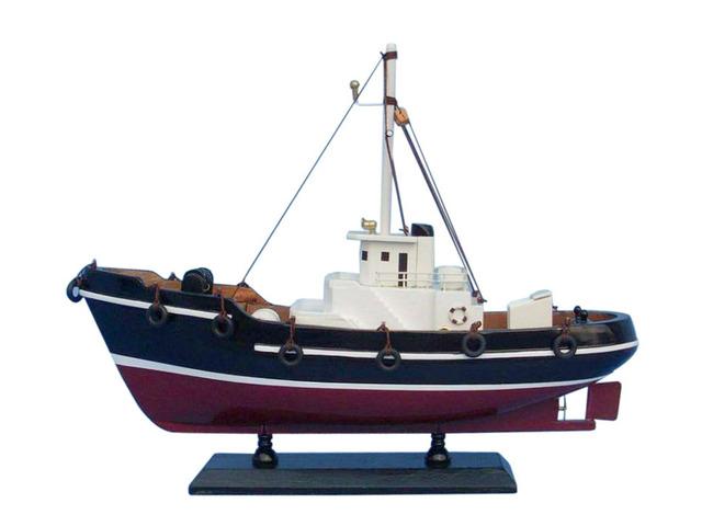 Wooden Drift Wood Model Fishing Boat 14