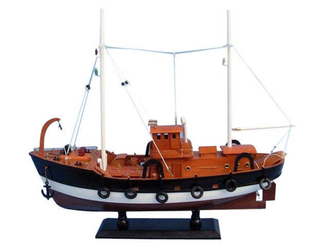 Wooden Fish Tank Model Boat 20