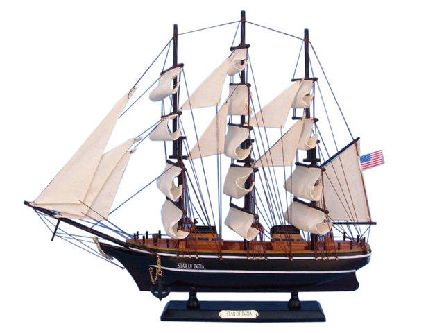 Wooden Star of India Tall Model Ship 24