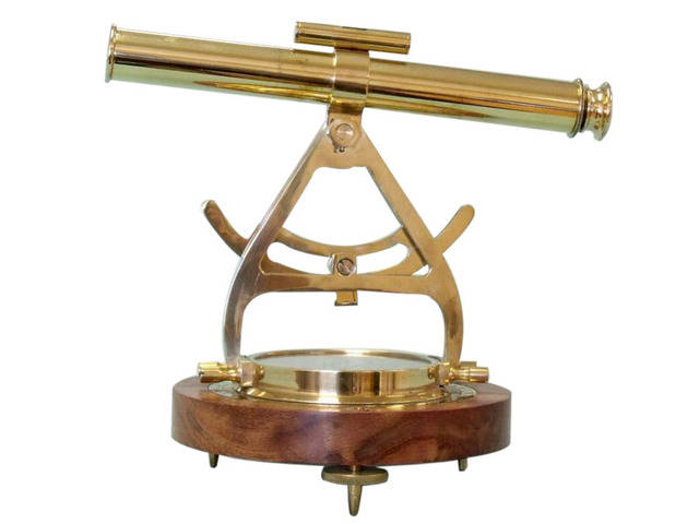 Solid Brass Alidade Compass 14