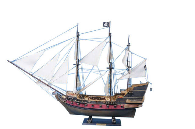 Captain Kiddandapos;s Adventure Galley Limited Model Pirate Ship 36 - White Sails