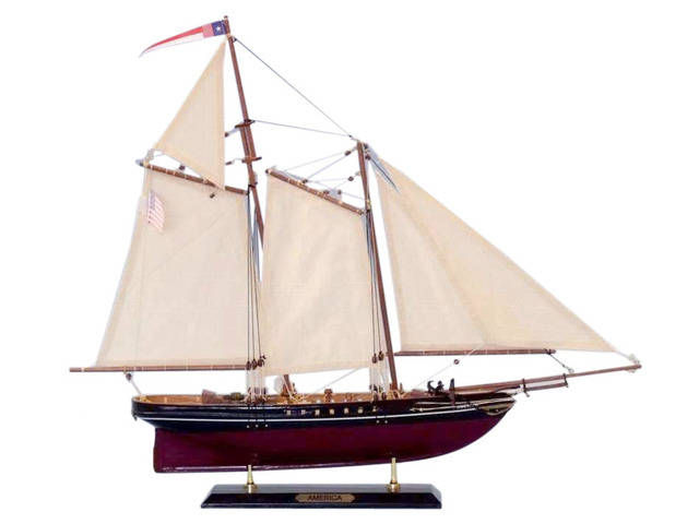 Wooden America Limited Model Sailboat 24