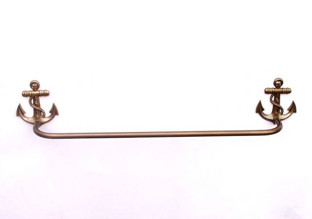 Antique Brass Anchor Bath Towel Holder 28
