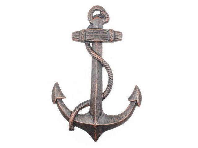 Rustic Copper Cast Iron Anchor 17
