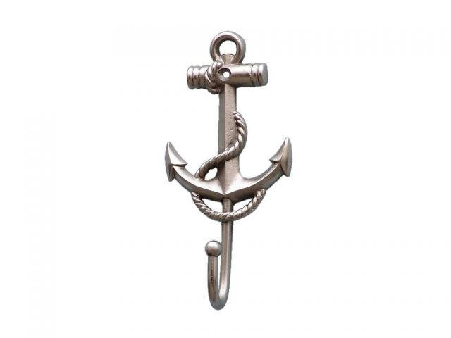 Silver Finish Anchor And Rope With Hook 7