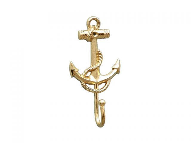 Gold Finish Anchor And Rope With Hook 7
