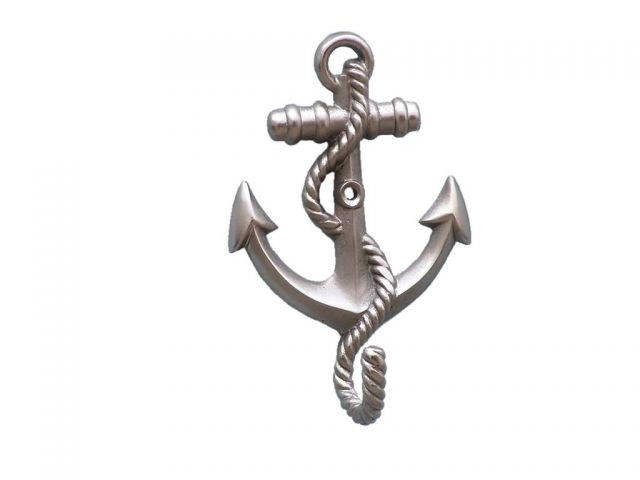 Silver Finish Anchor With Rope Hook 5