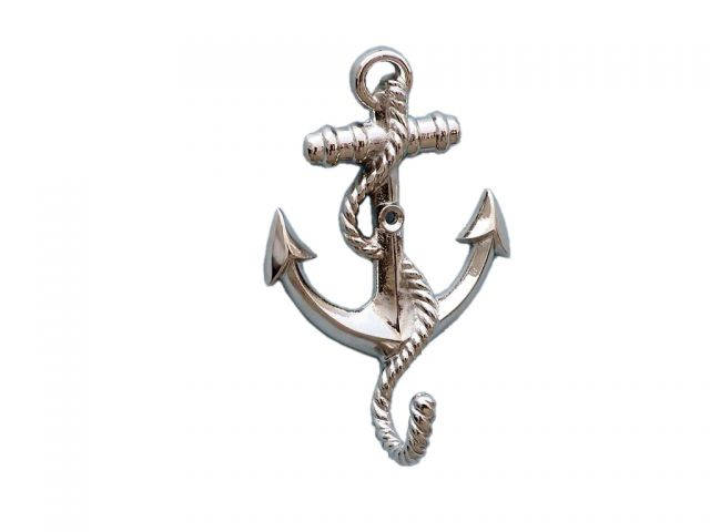 Chrome Anchor With Rope Hook 5