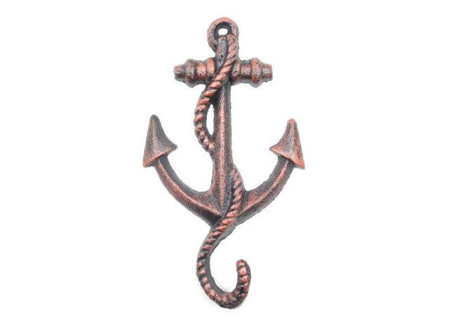 Rustic Copper Cast Iron Anchor Hook 5