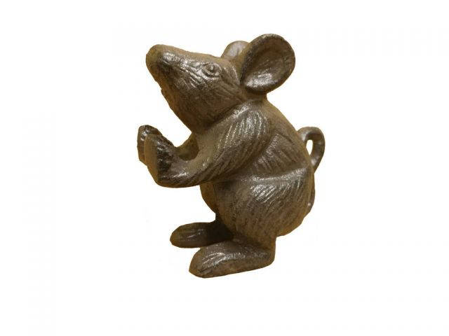 Set of 2 - Cast Iron Mouse Book Ends 5