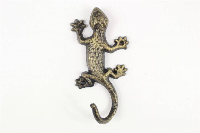 Rustic Gold Cast Iron Lizard Hook 6