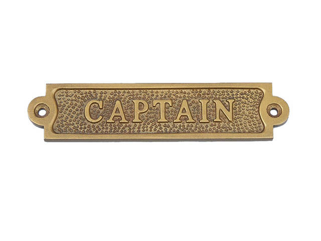 Antique Brass Captain Sign 6