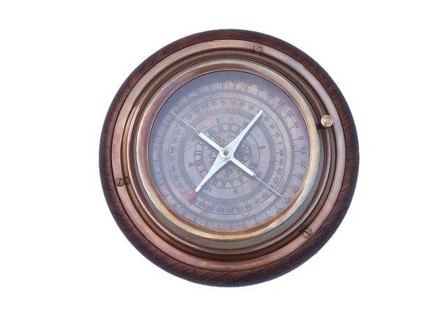 Antique Brass Directional Desktop Compass 6