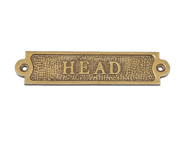Antique Brass Head Sign 6