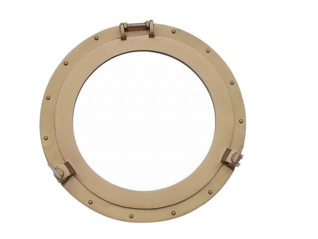Deluxe Class Antique Brass Porthole Window 24