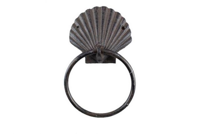 Cast Iron Seashell Towel Holder 8.5